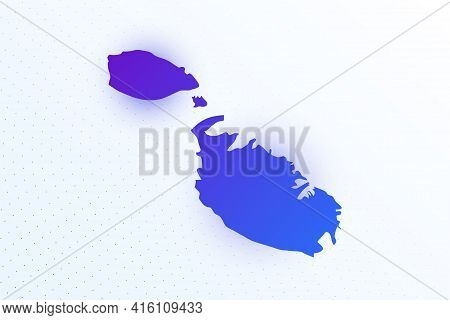 Map Icon Of Malta. Colorful Gradient Map On Light Background. Modern Digital Graphic Design. Light W