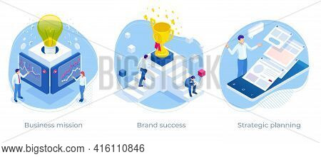 Isometric Crowdfunding Campaign, Business Profit And Financial Growth. Successful Strategy. Crowdfun