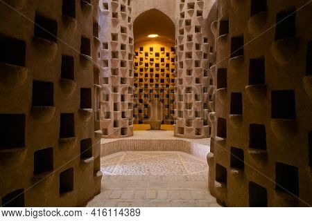 Meybod, Iran - 12.04.2019: Interior Of Pigeon Tower In Meybod, Yazd Province, Iran. Old Pigeon House