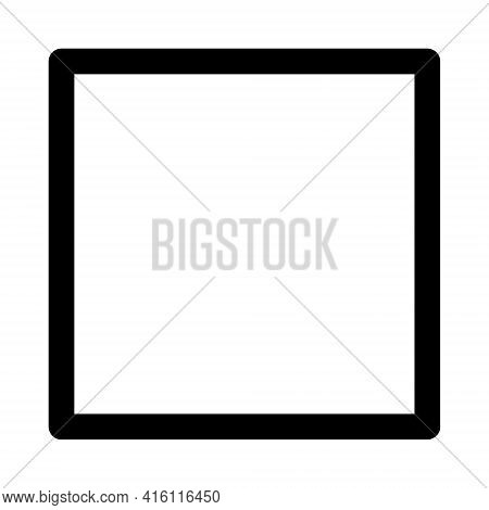 Square Icon Isolated On White Background. Square Icon Thin Line Outline Linear Square Symbol For Log