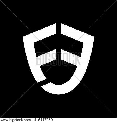Creative, Simple And Elegant Initial Letter Fe Shield Logo Template In Flat Design Monogram Illustra