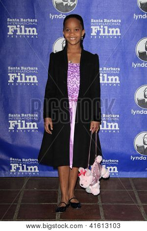SANTA BARBARA - JAN 29: Quvenzhane Wallis at the Virtuosos Awards at the 28th Santa Barbara International Film Festival on January 29, 2013 in Santa Barbara, California