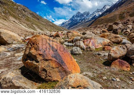Lahaul Valley in indian Himalayas, India