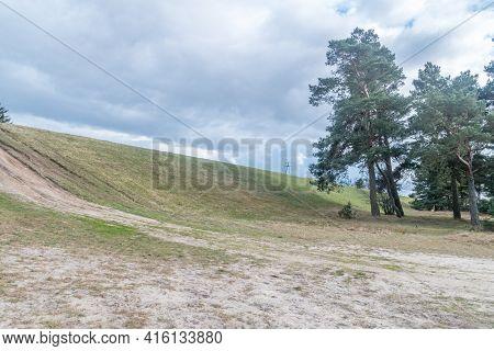 View On Mikoszewski Embankment. The Embankment Was Built On The Vistula River.