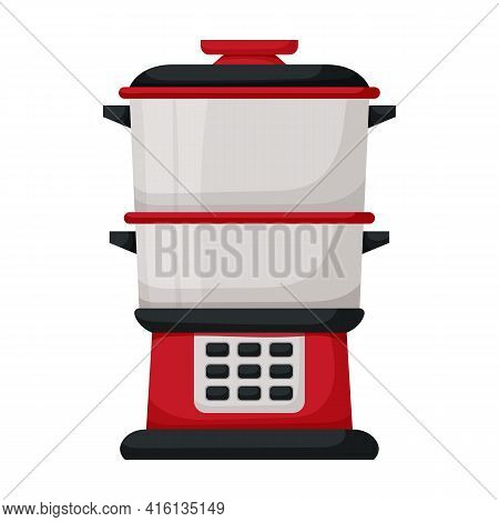 Double Boiler Vector Icon.cartoon Vector Icon Isolated On White Background Double Boiler.