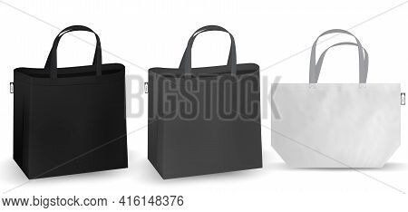 Shopping Bag, White Recycle Rpet Bag Identity Mock-up Items Template Transparent Background. Textile