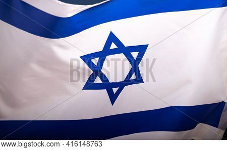 National flag of the country of Israel.