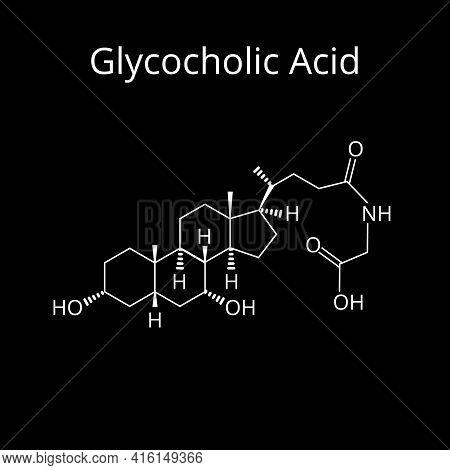 Glycocholic Acid. Bile Acid. Chemical Molecular Formula Glycocholic Acid. Vector Illustration On Iso