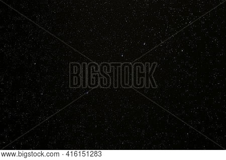 Abstract Night Sky Stars Background. Starry Night Sky With Stars. Natural Background With Black Sky