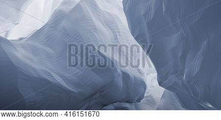 Abstract Cgi Background With Light Blue Triangular Mesh Surface, 3d Rendering Illustration