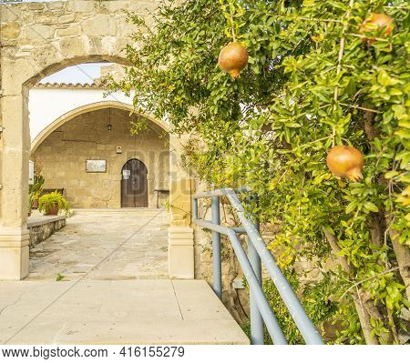 December 2020. Kellia, Larnaca District, Cyprus. Ayios Antonios Church In Kelli Cyprus