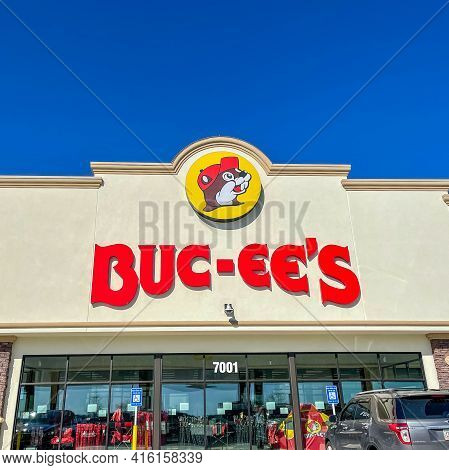 The Exterior Of A Buc Ees Gas Station, Fast Food Restaurant, And Convenience Store