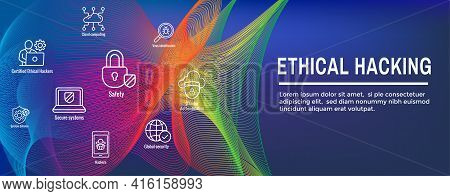Certified Ethical Hacker - Ceh - Icon Set, Web Header Banner