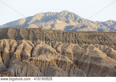 Sunset On Geological Rock Formations At Rodeo Near The Lake Of Wind (dique Del Viento) In San Juan P