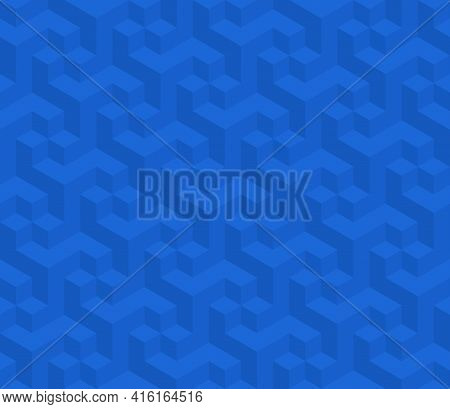 Vector Design Of Geometric Pattern With Three-dimensional Shape, Three-dimensional Effect Pattern Fo