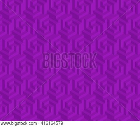Vector Design Of Geometric Pattern With Three-dimensional Shape, Hexagon Figure Texture For Backgrou