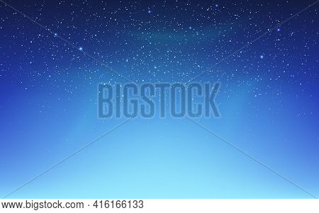 Space Background With Northern Lights. Aurora Borealis And Shining Stars. Color Starry Sky With Milk