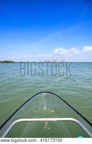 Clear Kayak Forges Through The Waterway Of Lovers Key In Bonita Springs, Florida.
