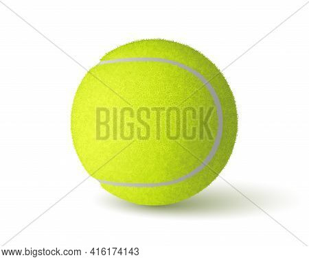 Vector Realistic Tennis Ball Isolated On White Background