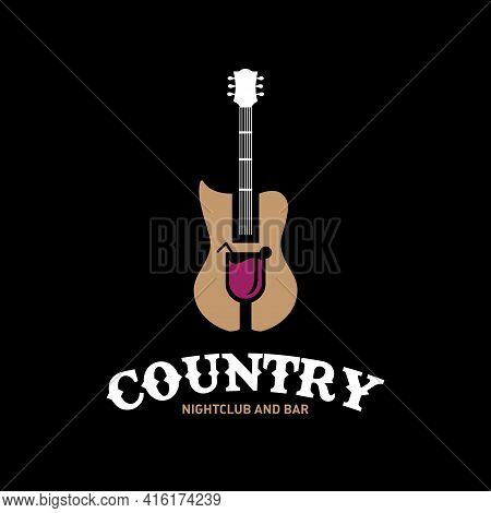 Country Nightclub And Bar Vector Logo Or Any Other Purpose.