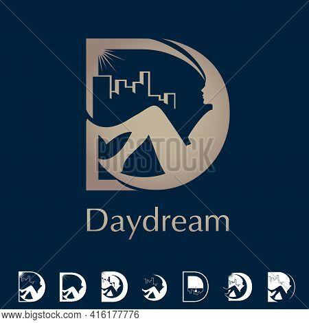 D Letter Based Symbol Daydream Concept Vector Set