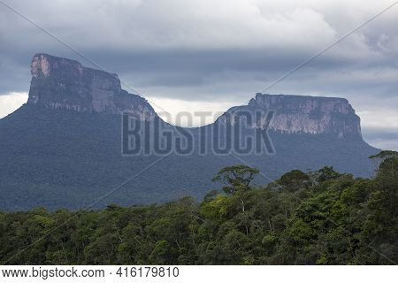 The Majestic Ptari-tepui In Canaima National Park, Venezuela 2015.