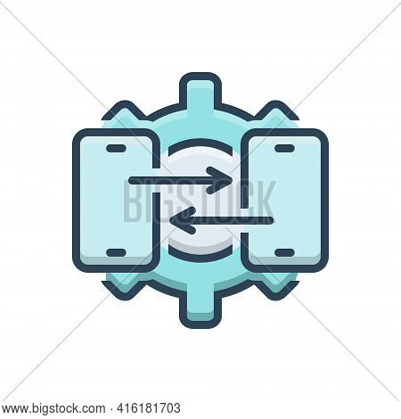 Color Illustration Icon For Technical-support Technical Support Consulting