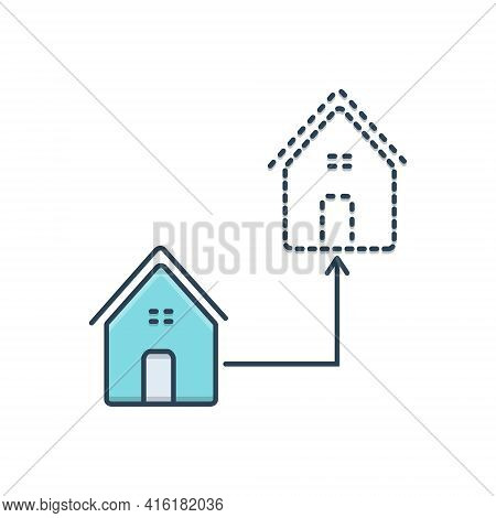 Color Illustration Icon For Relocate  Moving Relocation  Home