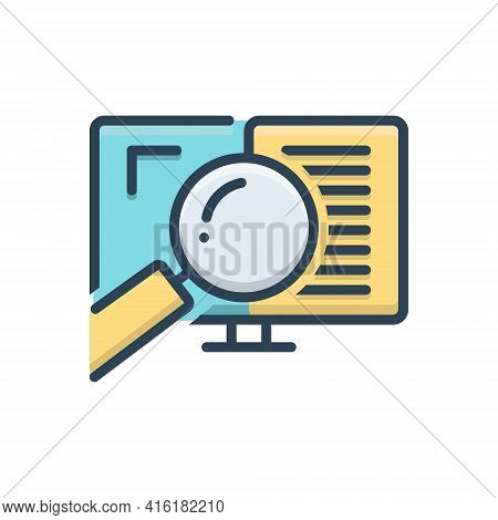 Color Illustration Icon For Auditing  Auditor Search Document Verification