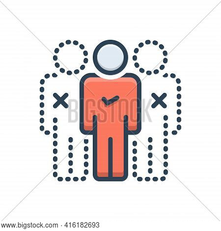 Color Illustration Icon For Absentees Attendance Cross Invalid Missing Removed