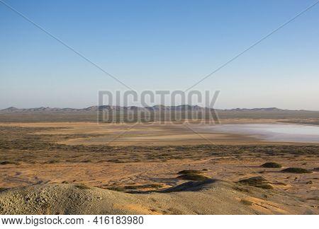 Colombia, Wild Coastal Desert Of Penisula La Guajira Near The Cabo De La Vela Resort, Colombia 2014.