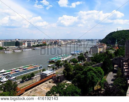 Budapest, Hungary - 13 Jun 2011: Danube River In The Center Of Budapest, Hungary