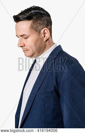 Businessman wearing a formal blazer