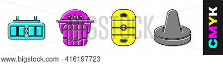 Set Hockey Mechanical Scoreboard, Hockey Helmet, Ice Hockey Rink And Mallet For Playing Air Hockey I