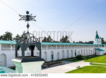 Istra, Russia - September 12, 2017:  Chimney On Building Roof Of Orthodox New Jerusalem Monastery An