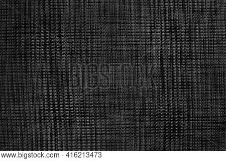 Textured Gray Black Surface Of Woven Plastic Material