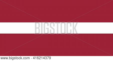 Flag Of The Republic Of Latvia. Official State Symbol Of Latvia With Correct Proportions And Colors.