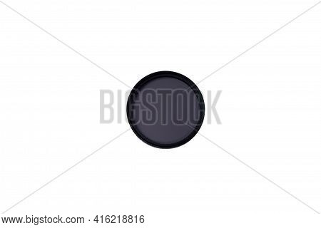 Polarizing Filter For The Camera Isolated On A White Background