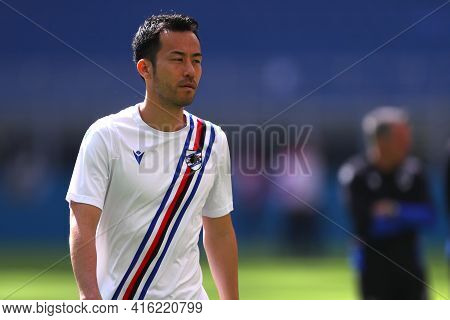 Milano, Italy. 03th April 2021 . Maya Yoshida Of Uc Sampdoria  During The Serie A Match Between Ac M