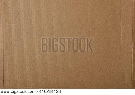 Crumpled Carton Paper Surface