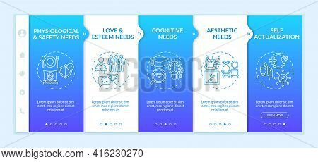Human Being Needs Onboarding Vector Template. Responsive Mobile Website With Icons. Web Page Walkthr