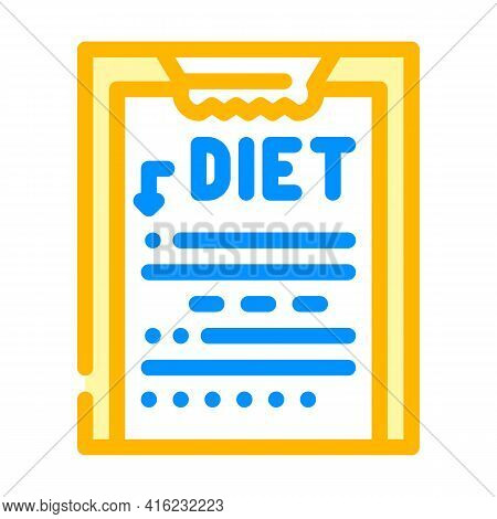 Description Diet Color Icon Vector. Description Diet Sign. Isolated Symbol Illustration