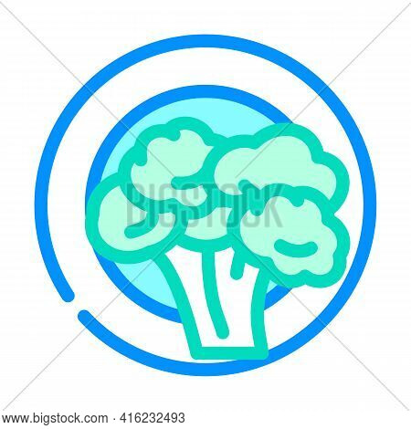 Vegetarian Diet Color Icon Vector. Vegetarian Diet Sign. Isolated Symbol Illustration