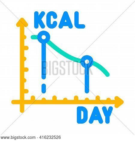 Calorie Reduction Gradually Color Icon Vector. Calorie Reduction Gradually Sign. Isolated Symbol Ill