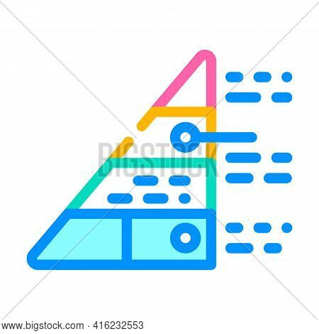 Pyramid Maslow Color Icon Vector. Pyramid Maslow Sign. Isolated Symbol Illustration