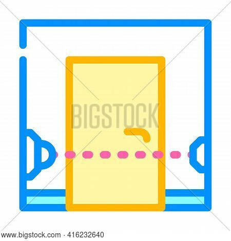 Beam Sensor Color Icon Vector. Beam Sensor Sign. Isolated Symbol Illustration