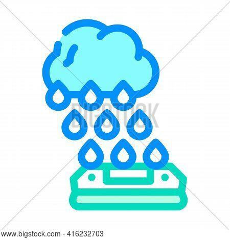 Rain Sensor Color Icon Vector. Rain Sensor Sign. Isolated Symbol Illustration