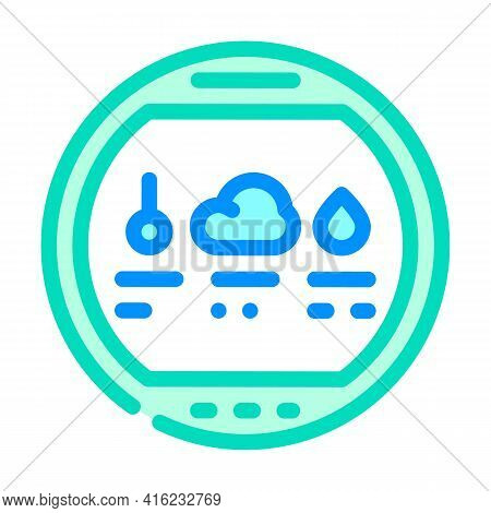 Thermohygrometer Tool Color Icon Vector. Thermohygrometer Tool Sign. Isolated Symbol Illustration