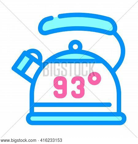 Kettle For Boiling Water Color Icon Vector. Kettle For Boiling Water Sign. Isolated Symbol Illustrat