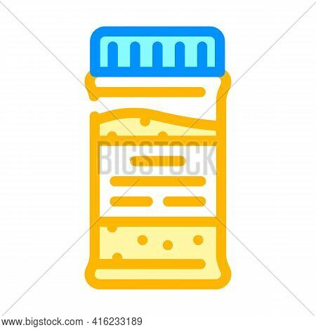 Granulated Tea Bottle Color Icon Vector. Granulated Tea Bottle Sign. Isolated Symbol Illustration